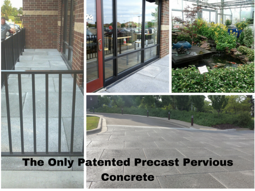 The Only Patented Precast Pervious Concrete